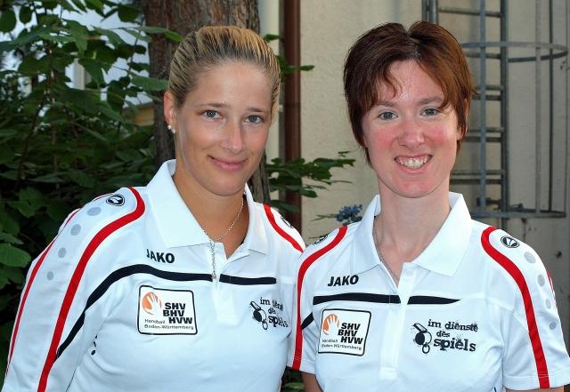 Stephanie Ganter und Claudia Lipps (BWOL Kader)